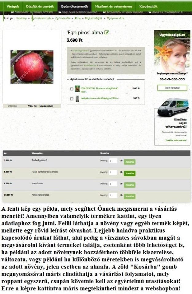 kertészeti webshop